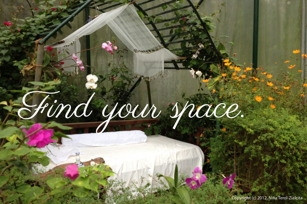 """Find your space"" 