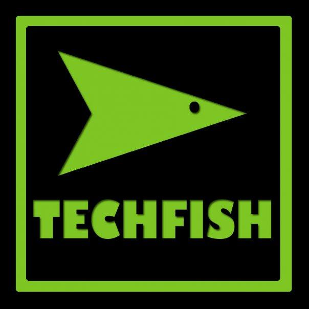 TechFish logo | Designed by Niña Terol-Zialcita (2009)
