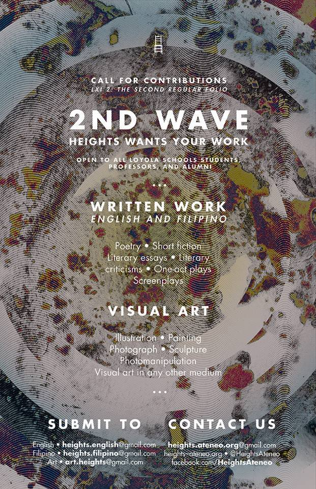 2nd WAVE. HEIGHTS WANTS YOUR WORK. Click on the image to visit the Heights website for details