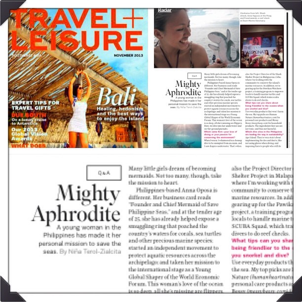 """Mighty Aphrodite"" in Travel + Leisure Southeast Asia, November 2013 issue"