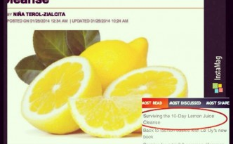 """Surviving the 10-Day Lemon Juice Cleanse"": A must-read on Rappler.com! :)"