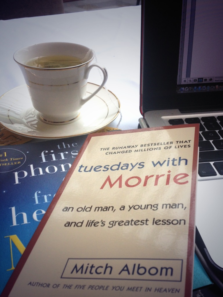 Two of Mitch Albom's popular and best-selling books | Photo by Niña Terol-Zialcita