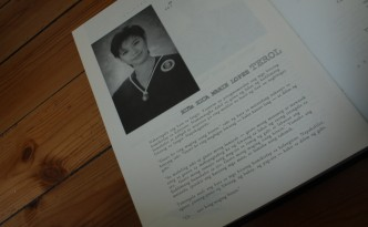 Niña Terol's entry in AEGIS 1999, the yearbook of the Ateneo de Manila University